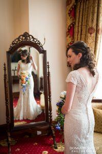 Hazel during bridal prep