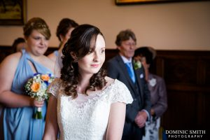 Hazel and Robs wedding ceremony at Stanhill Court