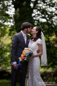 Hazel and Rob photographed at Stanhill Court Hotel