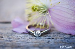 Close-up photograph of Hazelz engagement ring