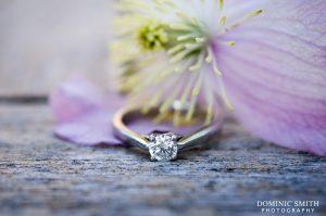 Close-up photograph of Hazelz engagement ring