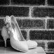 Detail photo of the bridal shoes