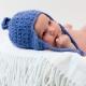 Newborn baby in a hat