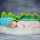 Newborn photographed as a dinosaur
