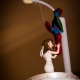 Spiderman wedding cake
