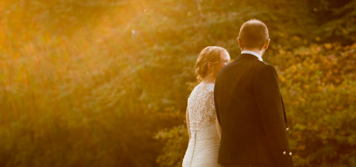 Wedding Couple at Yew Lodge Hotel
