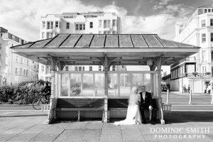 Bridal photo taken on Brighton Seafront