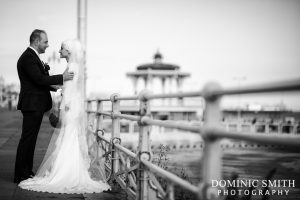 Bridal photo taken on Brighton Seafront
