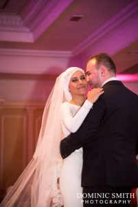 Bride and Groom dancing at the Hilton Hotel, Brighton