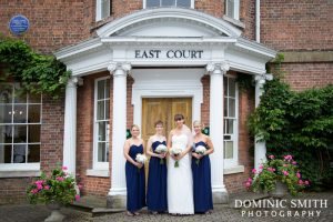 Tracey with the bridal party outside East Court