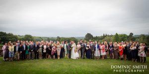 Wedding group photo taken at East Court