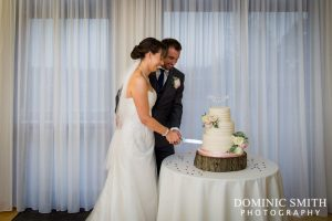 Andrew and Tracey Cake Cutting at East Court
