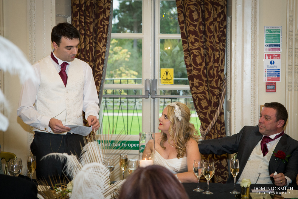 The Groom's speech at Buxted Park Hotel