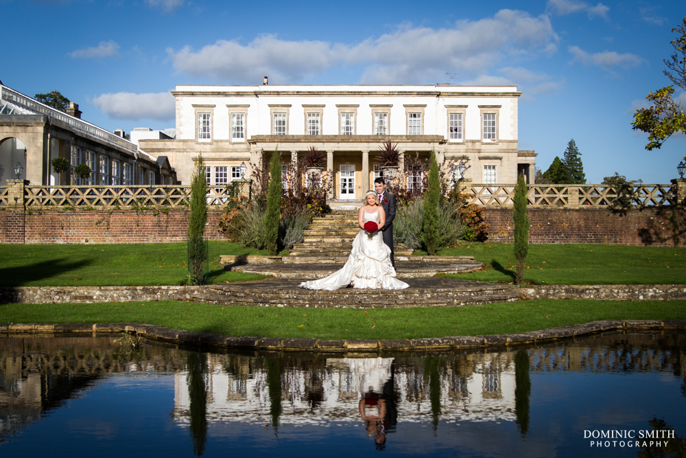 Couple Photo with the reflection at Buxted Park Hotel