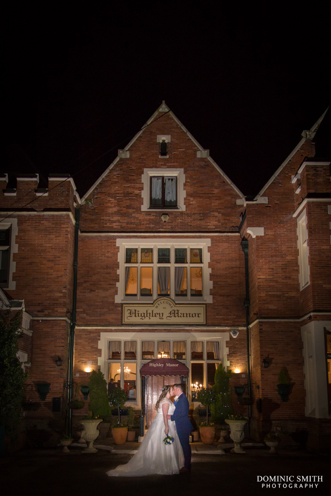 Night-time couple photos at Highley Manor