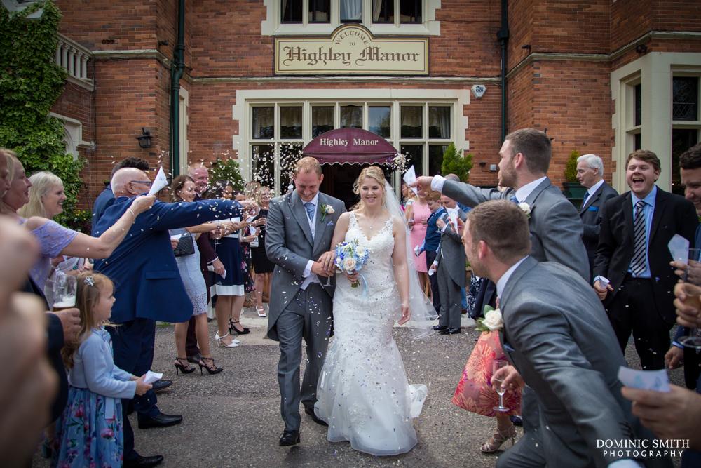 Confetti photo at Highley Manor