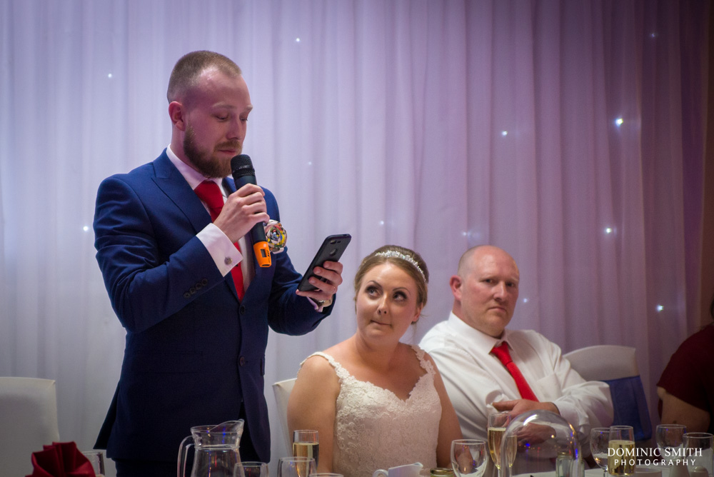 Grant gives delivers his grooms speech