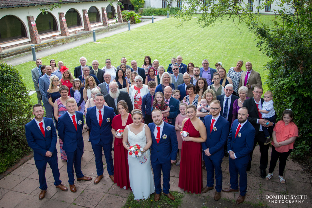 Group photo from Grant and Hollies wedding