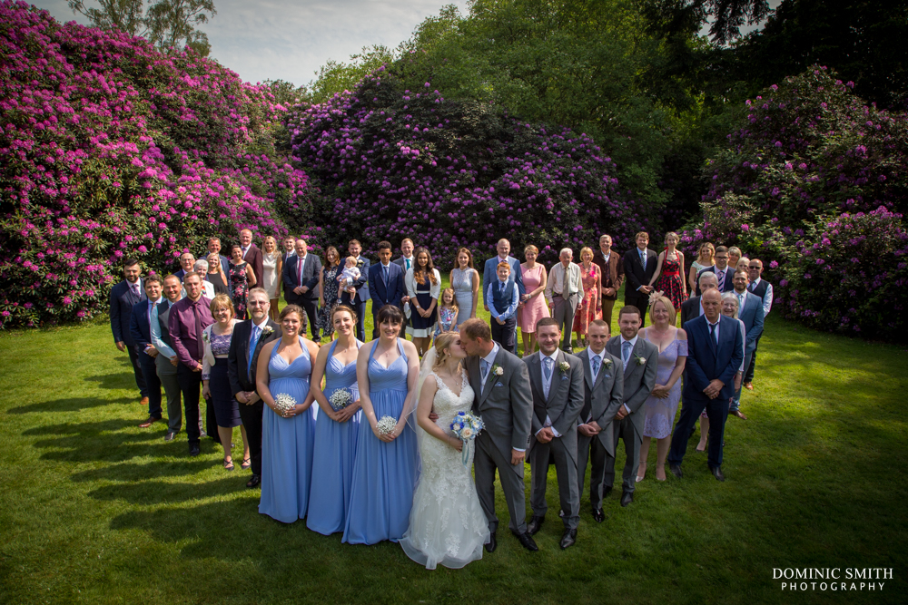 Heart shaped group photo at Highley Manor