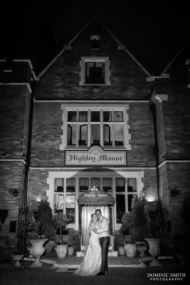 Night time couple photo at Highley Manor