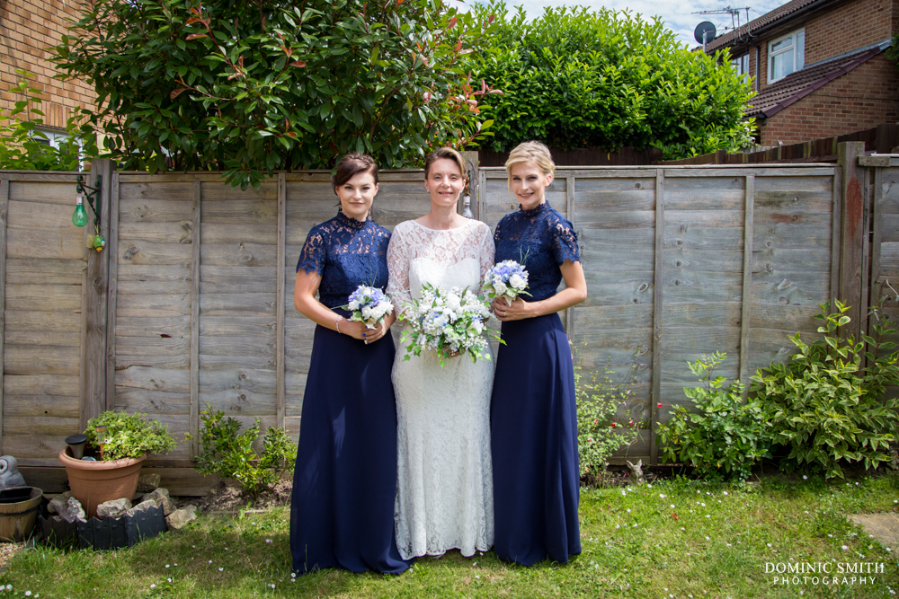 Alison with her Bridesmaids