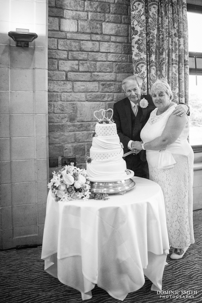 Cake cutting at South Lodge Hotel