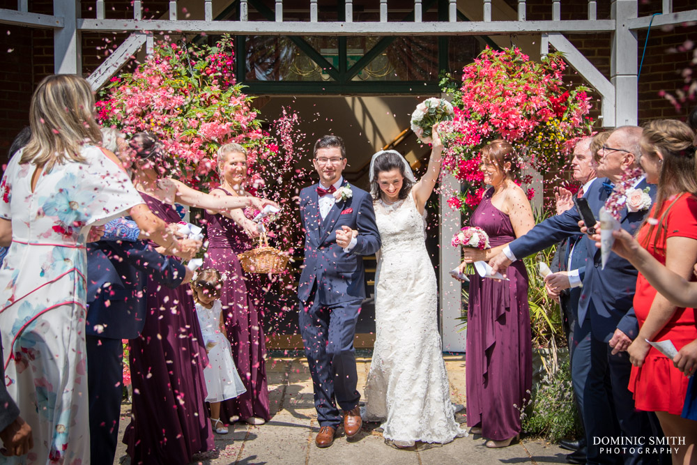 Confetti photo at Coulsdon Manor