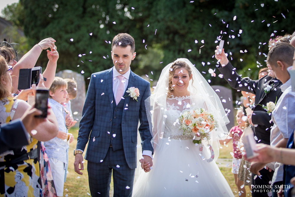 Confetti photo at St Margarets Church Ifield