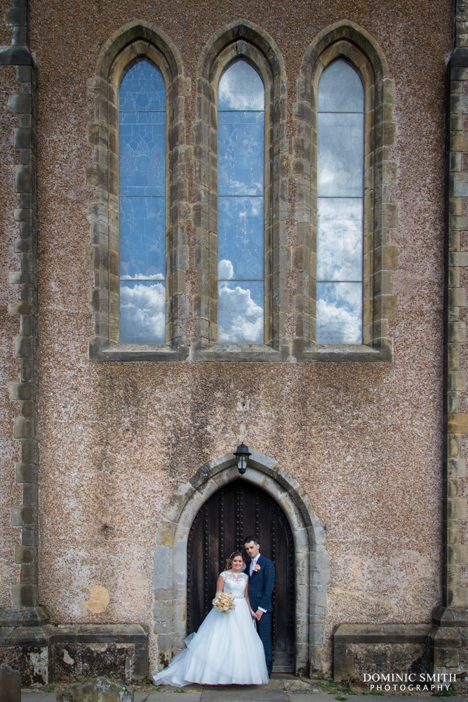 Couple photo at St Margarets Church 2