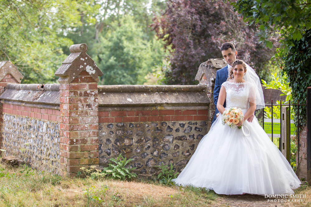 Couple photo at St Margarets Church Ifield 1