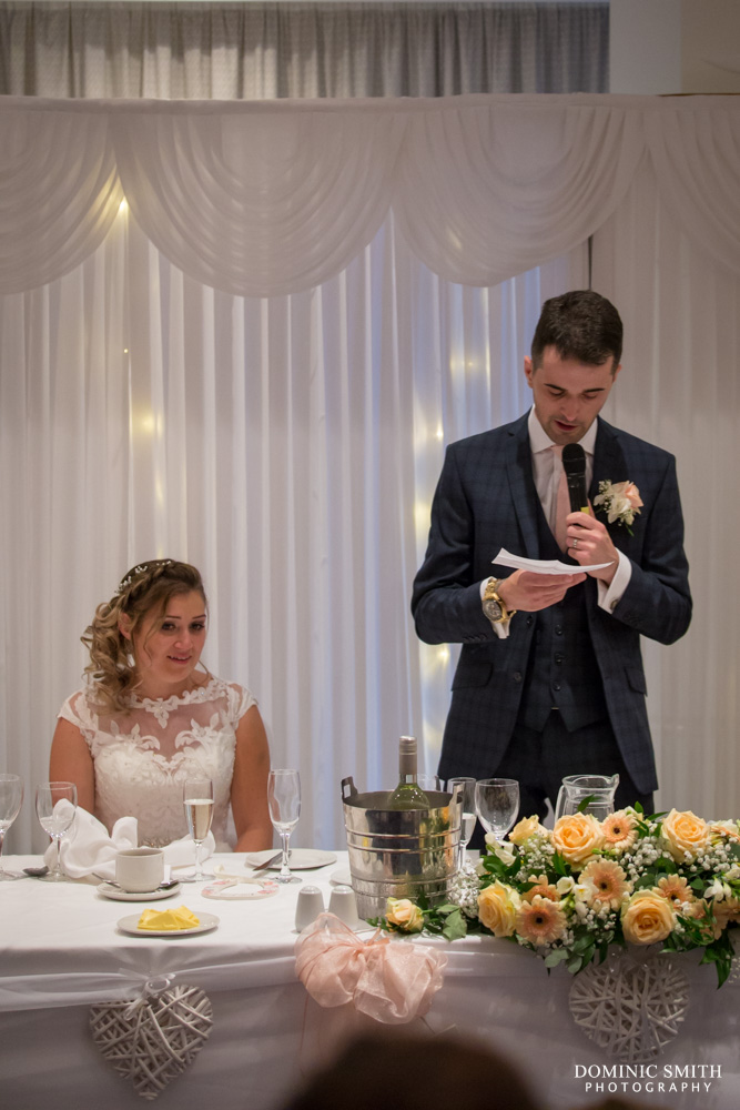 Groomsmans speech at the Arora Hotel Gatwick