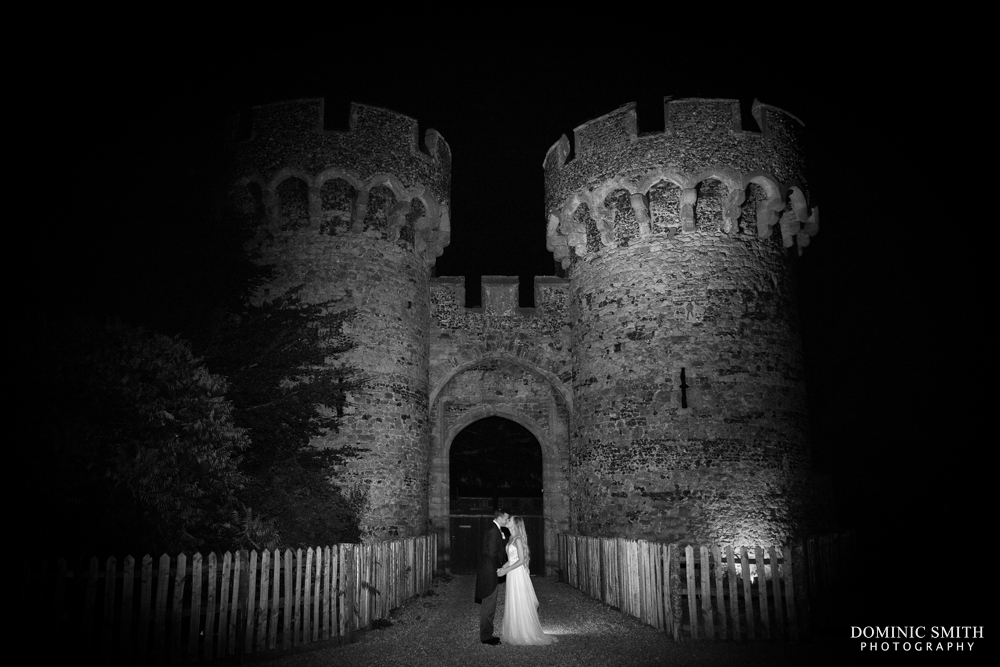 Night couple photo at Cooling Castle Barn