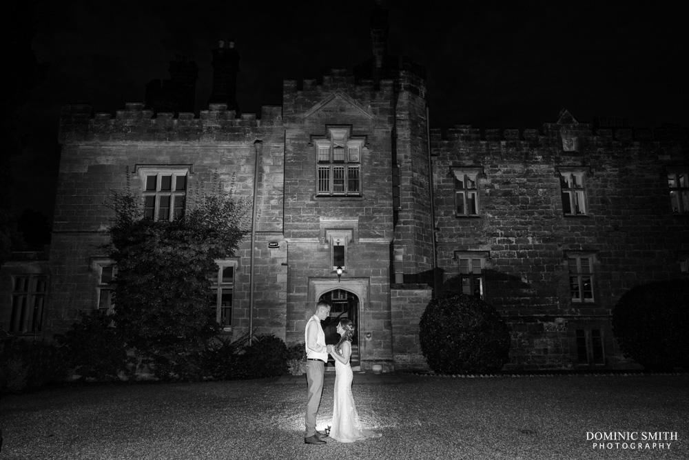 Night time photo taken at Wadhurst Castle