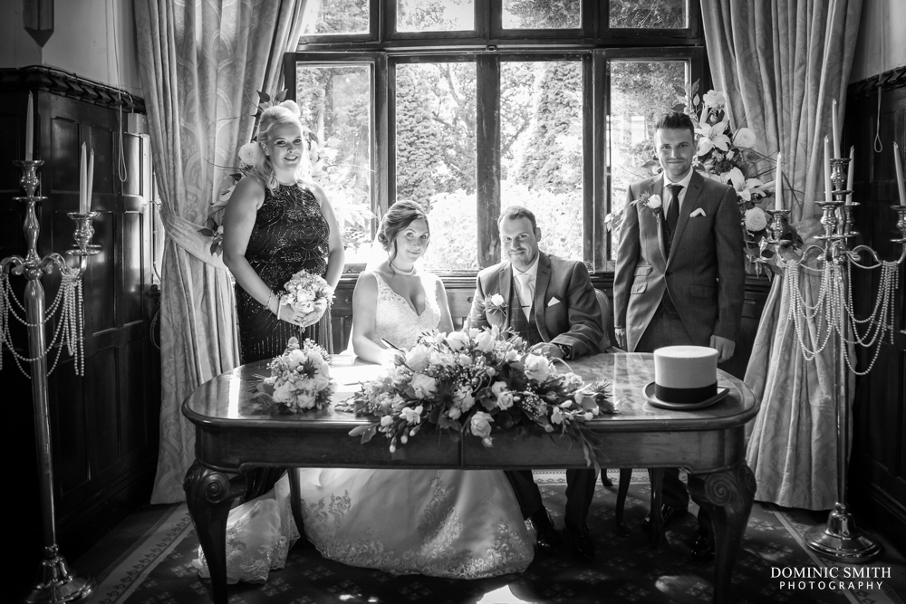Register signing at Highley Manor