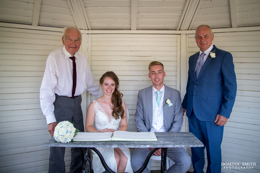 Signing of the Register at Wadhurst Castle