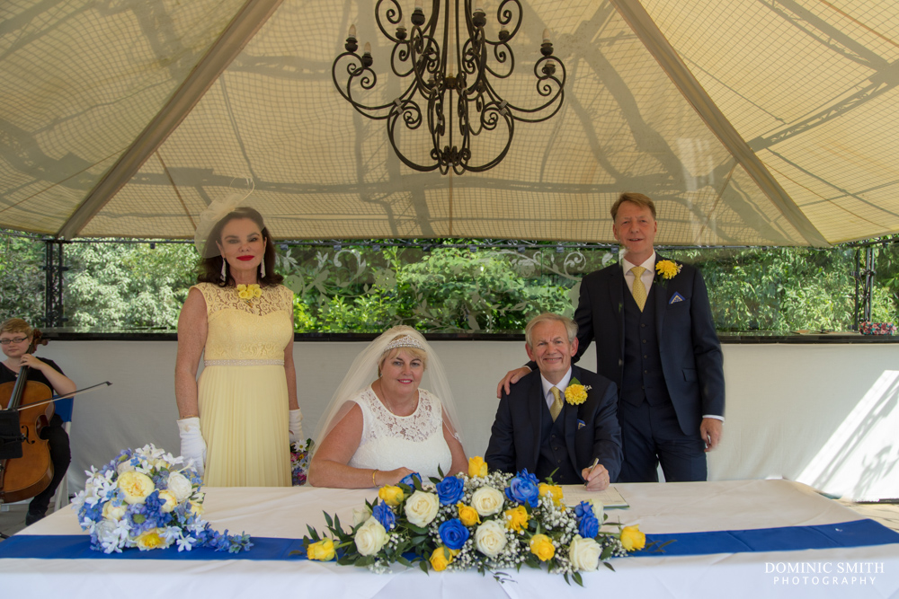 Signing of the register at South Lodge Hotel