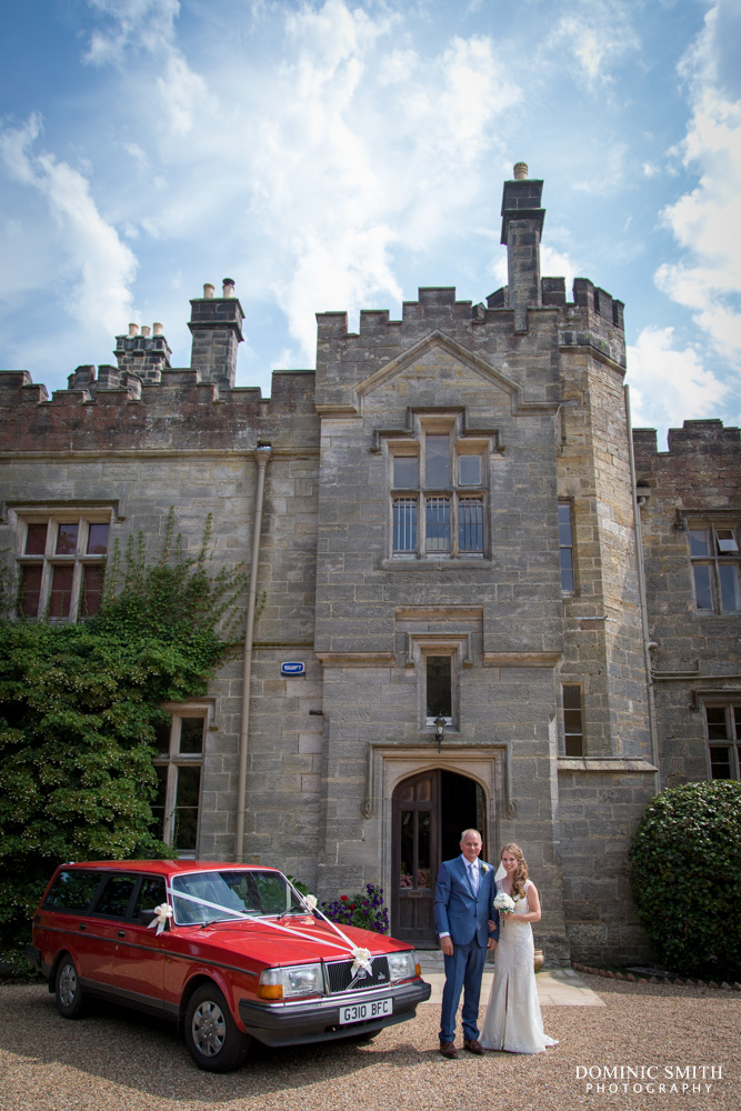 Wedding car at Wadhurst Castle