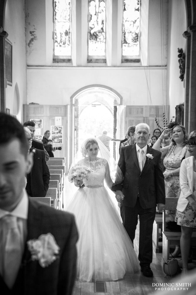 Wedding ceremony at St Margarets Church Ifield 3