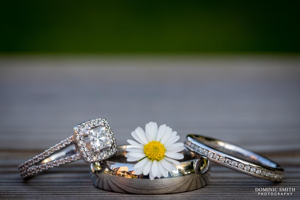 Wedding ring photo taken at Highley Manor Hotel
