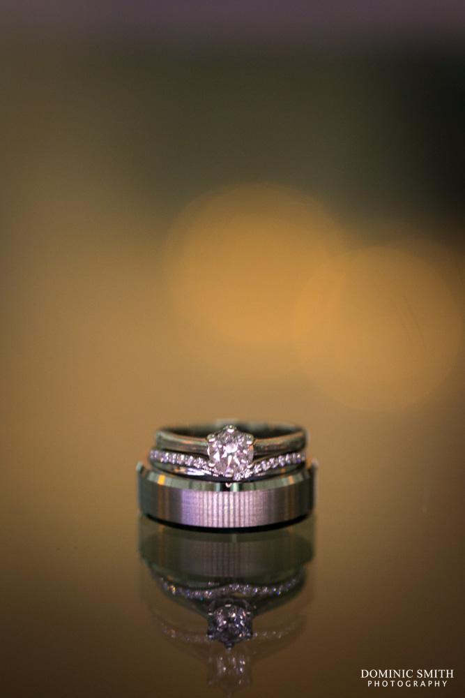 Wedding ring photo taken at the Arora Hotel Gatwick