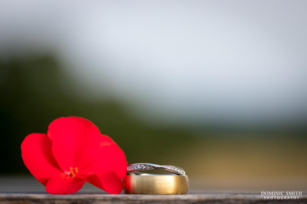 Wedding rings taken at Wadhurst Castle