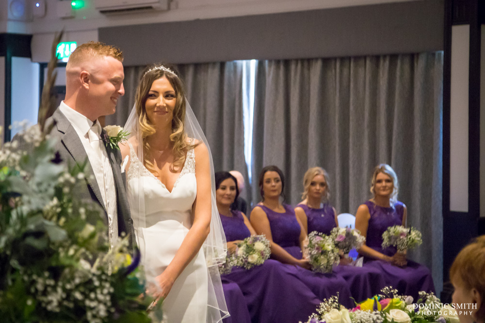 Wedding ceremony at Crowne Plaza Felbridge