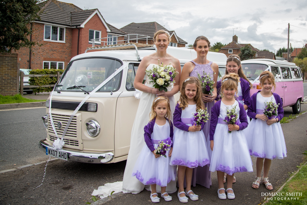 Bridal party arrive at St Augustines Church