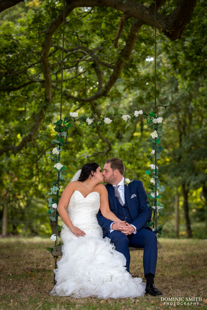 Bride and Groom at Hookhouse Farm Swing 2
