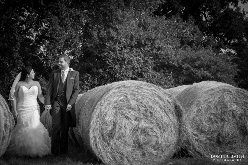 Bride and Groom at Hookhouse Farm