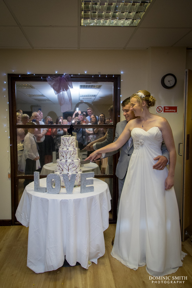Cake cutting at Scaynes Hill Millennium Centre