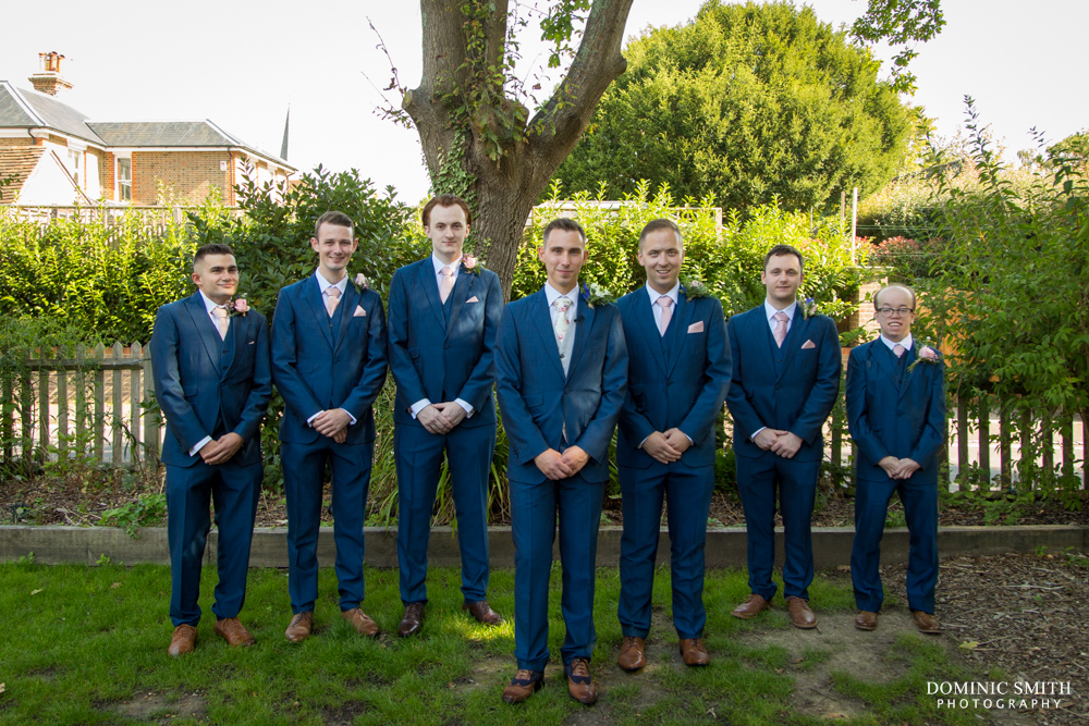 Groomsmen Photo taken at the Bent Arms in Lindfield