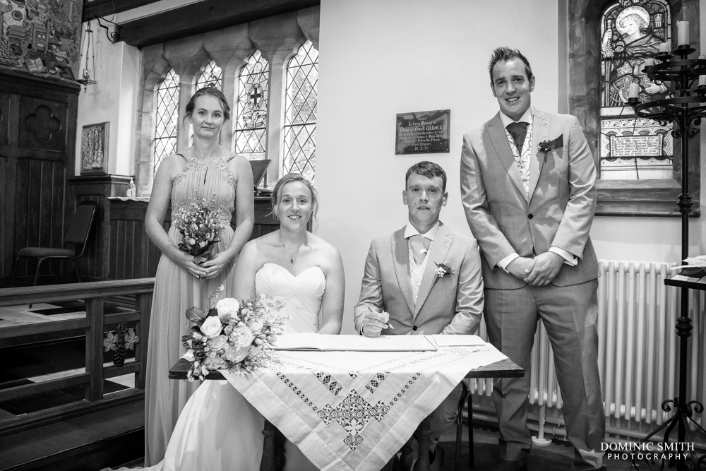 Signing the register at St Augustines Church