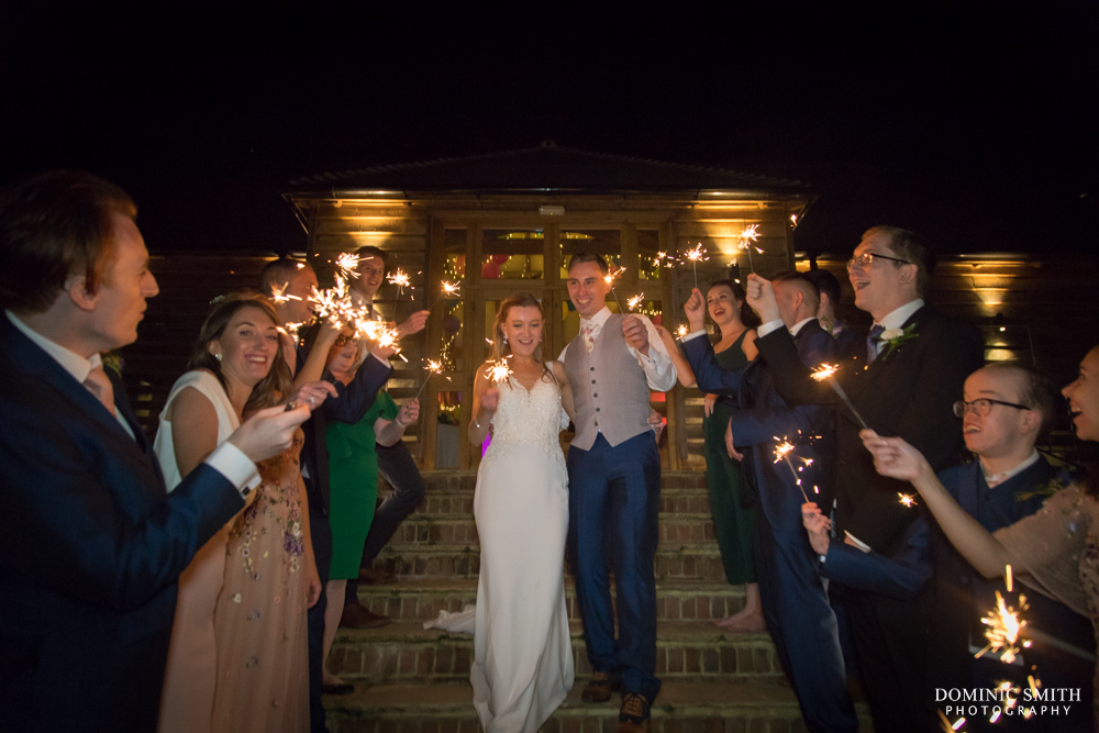 Sparkler Photo at Brookfield Barn