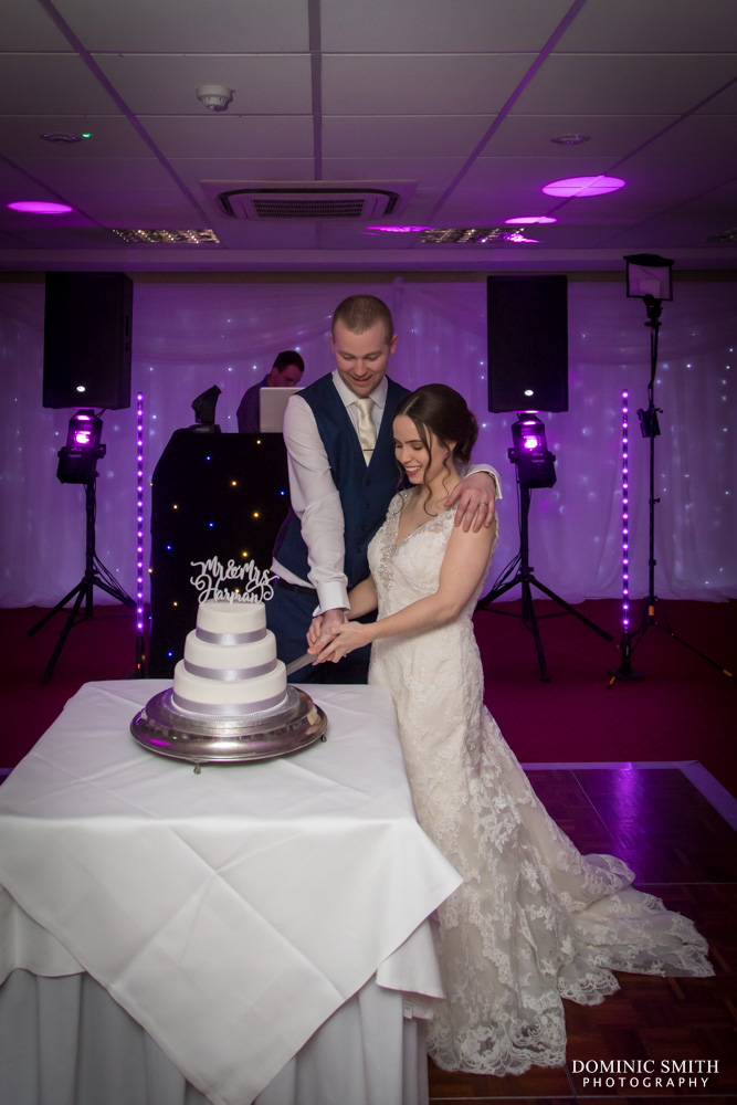 Cake cutting at Hickstead Hotel